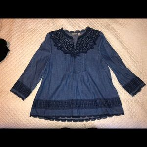Holding Horses Anthropologie Blouse size 6
